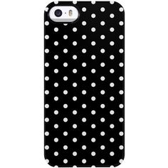 Uncommon Mini Dots iPhone 5/5S TS Deflector Case ($19) ❤ liked on Polyvore featuring accessories, tech accessories, phone cases, black, iphone and phone