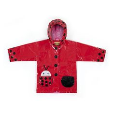 Irresistible and eye-catching, these stylish, upscale coats are the core of a Kidorable ensemble. Lady Bug all-weather raincoat for your little girl. It is more than just a raincoat, it can be worn every day, all spring, summer and fall. Featuring an ench