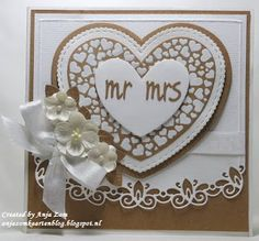Handmade card by DT member Anja with Craftables Hearts - Basic Shape (CR1351), Curved Border (LR0396) and Collectables Charming Alphabet (COL1397) from Marianne Design
