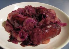 German-Style Red Cabbage with Kielbasa Sausage