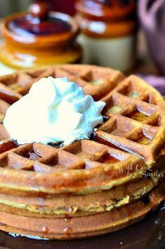 Gingerbread Waffles - Will Cook For Smiles