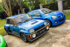 Renault 5 Turbo 2 & Renault Clio V6 [OC][2500x1600] - see http://www.classybro.com/ for more!