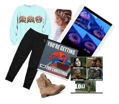 """""""Slap of the day @rustee-the-cat"""" by xxabbeybearxx ❤ liked on Polyvore featuring October's Very Own"""