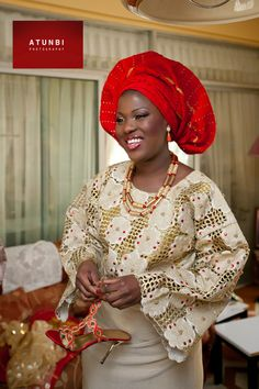 My mother will probably be dressed like this during my queer afrofeminist puertominican wedding. Her gele will have more attitude sha.
