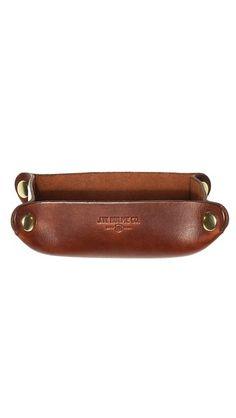 J.W. Hulme Co. American Heritage Leather Desk Valet Tray