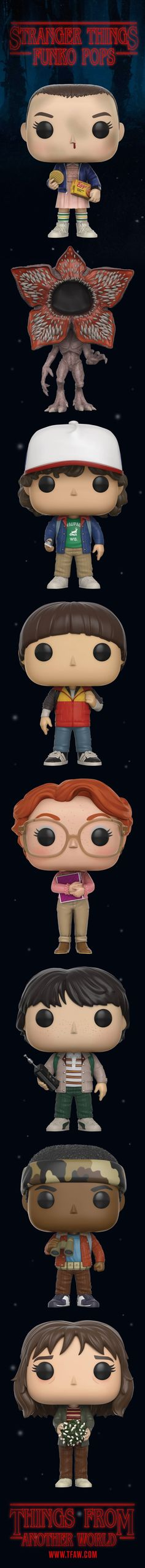 Get all your favorite Stranger Things characters like Eleven, Mike, Barb and even the Demogorgon in Funko Pop's style. Save 20% when you Pre-Order!
