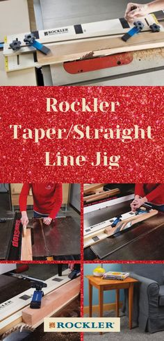 Our Taper/Straight Line Jig is great for a number of applications--including an end table! They also make a great gift. Download the free end table plan when you purchase this jig for your favorite woodworker here.  #createwithconfidence #rocklerinnovations #taperjig #straightlinejig #woodworkingjig Cool Woodworking Projects, Woodworking Jigs, Wood Projects, Top Gifts, Gifts For Dad, Taper Jig, End Table Plans, Weekend Projects, Crafts To Sell