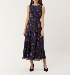 Shop Carly Dress by HOBBS online - all the latest luxury British fashion along with exclusive online offers. Free UK delivery for all orders over Hobbs Hobbs Dresses, Dresses Dresses, Hobbs London, Floral Print Maxi Dress, Fall Skirts, Flare Skirt, Occasion Dresses, Wedding Attire, Uk Online