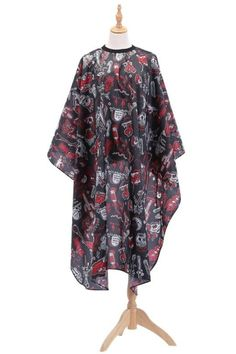 Super breathable.  Smooth and non stick hair.  Nice style, Unique design pattern.  Skin friendly, soft and comfortable.  No stimulation to skin and antistatic. Cut Hair At Home, Floral Print Maxi Dress, Hairdresser, Pattern Design, Backless, Kimono Top, Hair Cuts, Floral Prints, Smooth