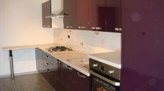 Mobila Bucatarie cu Usi MDF Vopsit Mov Lucios Producator de Mobilier la Comanda Kitchen Cabinets, Design, Home Decor, Decoration Home, Room Decor, Kitchen Base Cabinets, Dressers, Kitchen Cupboards
