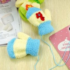 Winter kids accessories velvet child baby mittens warm lovely Gloves & Mittens 0-3 years 2 pieces/lot wholesale price A10-914