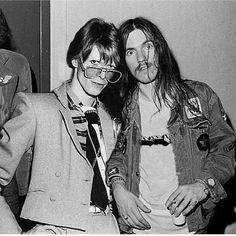 David Bowie & Lemmy Kilmister