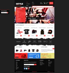 3STYLE HIPHOP SHOP by Dawid Tomczyk, via Behance
