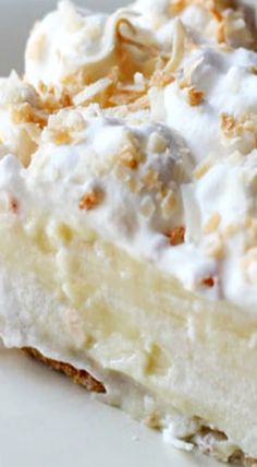 White Chocolate Coconut Cream Pie