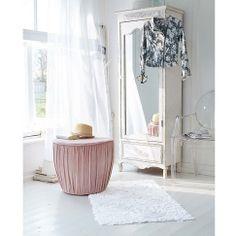 Schrank mit Spiegeltür im Romantik-Look aus Holz in weiß bei IMPRESSIONEN