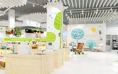 © BRANDEXPERT Freedom Island. Interior design of kids store.  «Купи коляску» — розничный магазин для заботливых родителей с широким ассортиментом крупных товаров, колясок, мебели, игрушек для детей в возрасте до 6 лет