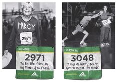 A reportage-style print campaign that celebrates everyday marathon runners and their reason to run.