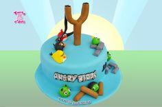 Torta Angry birds | Torty pre deti Žilina - detské, marcipánové, 3D, a iné torty na objednávku