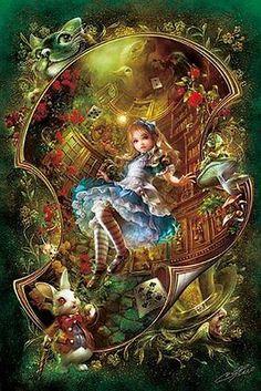 APPLEONE Jigsaw Puzzle 1000-660 Alice In Wonderland (1000 Pieces)