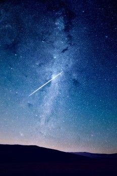 Galaxy, Milky Way, Shooting Star, Sky
