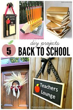 That's My Letter: Back to School: 5 DIY Projects