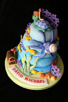 Cake Art By Rabia : Kids Cakes - Cake Art by Rabia - fondant coral and seaweed ...