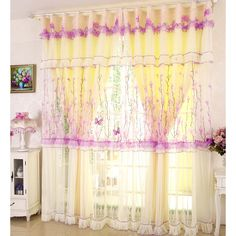 Sheer Curtain And Yellow Curtain