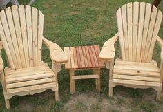 Adirondak chairs by Flamborough Patio Cedar Furniture, Outdoor Furniture, Outdoor Chairs, Outdoor Decor, Landscape Design, Patio, Projects, Home Decor, Chairs