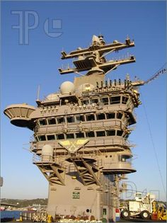 Picture of Aircraft Carrier USS Dwight D Eisenhower Control Tower