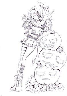 Violet Halloween Lineart by Sakukko