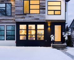 barn wood exterior images   Baroque Wood Siding fashion Calgary Contemporary Exterior Remodeling ...