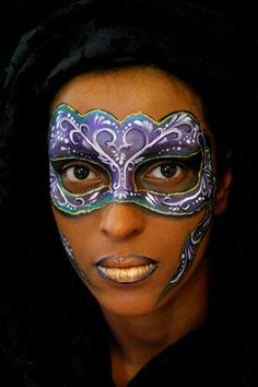 Gorgeous! I'm lovin' the details, perfect for Mardi Gras - Jasmin Walsh Face & Body Art