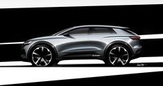 New Audi e-tron sketches - pictures Car Interior Sketch, Car Design Sketch, Car Sketch, Audi Q4, Transportation Technology, Transportation Design, Dmc Delorean, Car Buying Guide, Cool Sketches