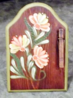 Floral Recipe Message Picture Holder Decor by VintageCellarDoor, $16.00
