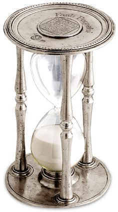Talete pewter hourglass by designer Alberto Tabellini (via Art of Pewter)