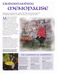 Book of Shadows:  #BOS Understanding Menopause page.