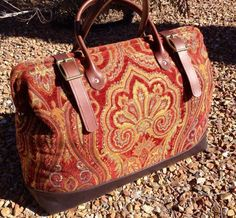 Carpet Bag by LondonJacks on Etsy Paisley, Carpet Bag, Tapestry Fabric, Handmade Purses, Vintage Purses, Louis Vuitton Speedy Bag, Luggage Bags, Leather Bag, Leather Handbags