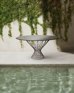 Woven seduction and polished glamour leave nothing to chance in the stunning Allure dining table. Outdoor Side Table, Outdoor Dining, Dining Table, Garden Table, Seasonal Decor, Interior Styling, Summer Houses, Glamour, Design
