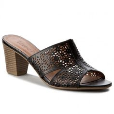 Șlapi LORETTA VITALE - 2000-16 Aanado Preto Heeled Mules, Shoes, Fashion, Moda, Zapatos, Shoes Outlet, Fashion Styles, Shoe, Footwear
