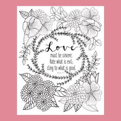 John 1512 Coloring Page Love Valentine Adult By FourthAvePenandInk On Etsy