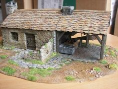 Ho Scale Buildings, Game Terrain, Building Layout, Wargaming Terrain, Fantasy House, Tiny World, Belem, Stone Houses, Environment Design