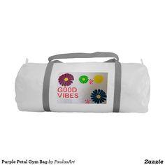 Purple Petal Gym Bag