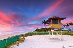 lifeguard house at sheraton beach, qld, australia