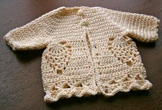 Emily Baby Sweater By Auntie M - Free Crochet Pattern - (ravelry)