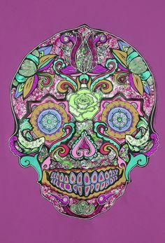 ''Karmic Chi Love Thing Sugar Skull Purple'' by Lynsey Morgann Laurence & Isabella Cammareri (copy), £24.50