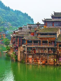 1 fenghuang ancient town hunan china - Hunan - Wikipedia, the free encyclopedia The Places Youll Go, Places To See, Beautiful World, Beautiful Places, Vietnam, Chinese Architecture, Japan Architecture, Jolie Photo, China Travel