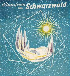 https://flic.kr/p/94UGSu | Paul Friedrich Illustration | From a prospectus,  Winterferien im Schwarzwald  (Winter Vacation in the Black Forest). From Gebrauchsgraphik No. 6, 1955. Appropriate as it seems the world is rather snowbound this holiday week.