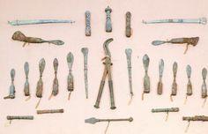 Surgical instruments, from Pompeii, Campania. Roman Civilization, 1st Century.