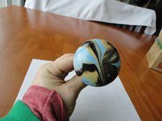 Rare 19th Century Blue Mocha Ware? Bennington? Swirl Door Knob