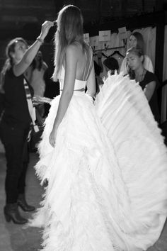 Backstage at Christian Siriano - Spring/Summer 2015 RTW